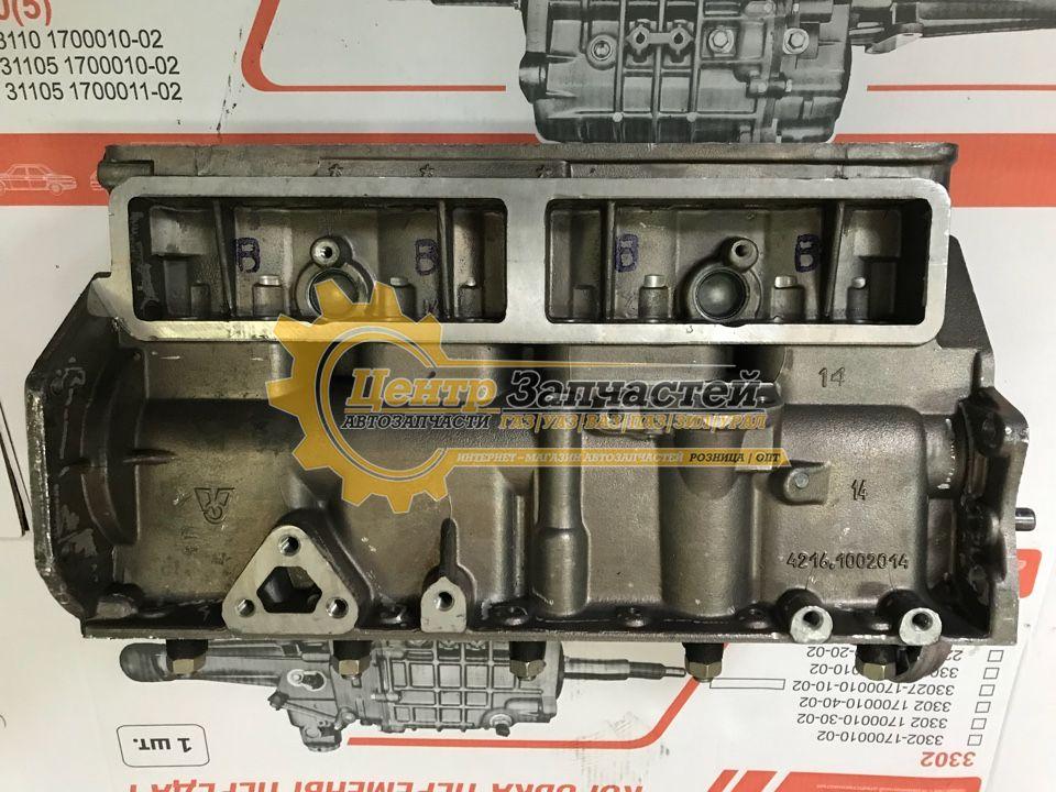 Блок цилиндров УМЗ-4216 евро 3, евро 4 без картера  сцепления .Артикул 4216.1002009-02.