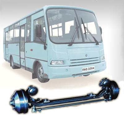 Передняя подвеска Автобус ПАЗ 32053, ПАЗ 4234, 8 шпилек с длинными барабанами.